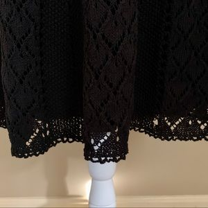 LOFT Skirts - NWT Ann Taylor LOFT black crocheted skirt, Size 6